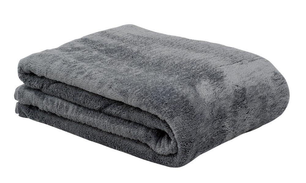 kuscheldecke in den farben natur dunkelbraun sand und grau. Black Bedroom Furniture Sets. Home Design Ideas