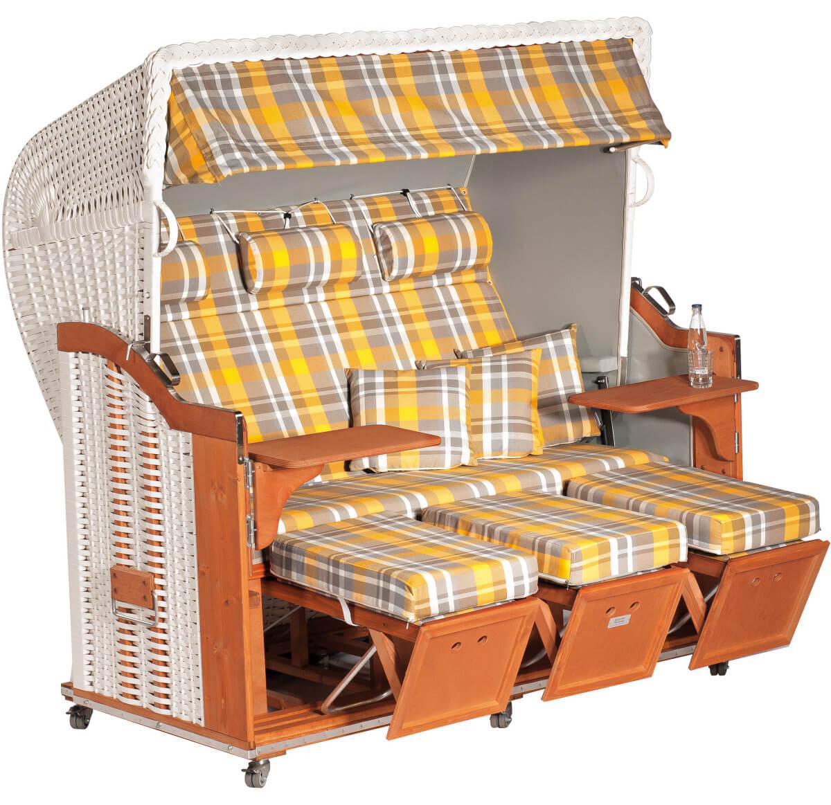 strandkorb classic weiss oxford gelb uni hellgrau. Black Bedroom Furniture Sets. Home Design Ideas